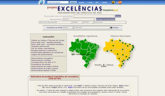 Transparência Brasil - Excelências